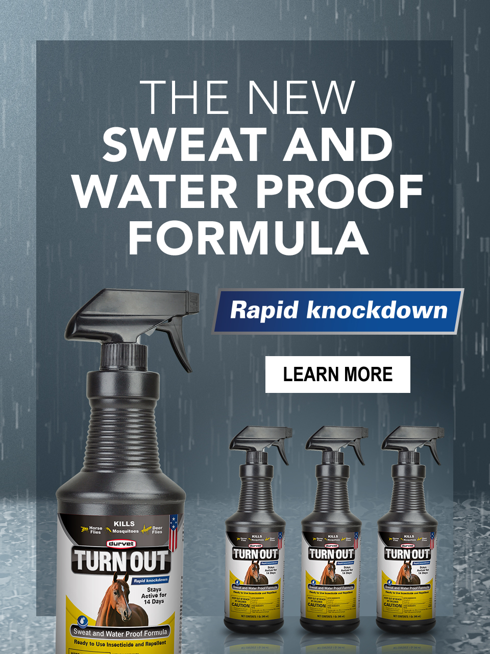 TURN OUT Sweat and Water Proof Formula