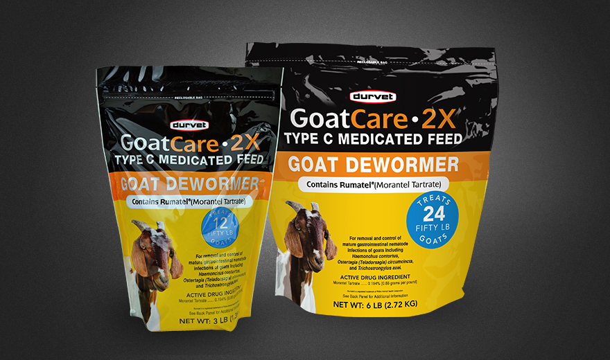 GoatCare-2X Type C Medicated Feed - Goat Dewormer - Durvet